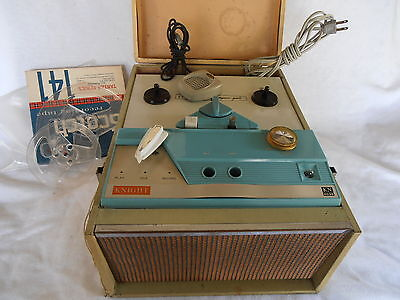 Vintage 7 inch Knight Reel to Reel Tape Recorder Model KN4035