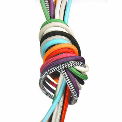 5M 10M Fabric Wire Cable Color Electrical Cord Vintage 2 Core Cloth Covered