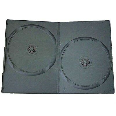 Double Dvd Case To Hold 2 Dvds - 14Mm Thick (Standard Size) Box Of 100 Cases