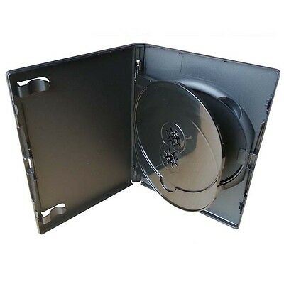 3 Way / Triple  Dvd Case /each Holds 3 Discs 14Mm Thick Standard Size Box Of 100