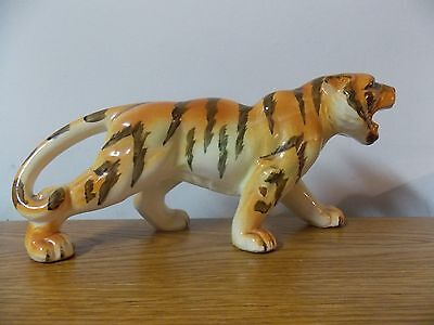 VINTAGE TIGER FIGURINE STAMPED JAPAN