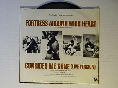 Sting 45 w/ps Fortress Around Your Heart / Consider me Gone live ~  VG++