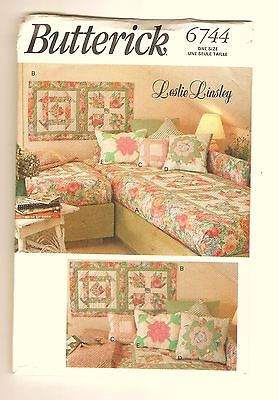 Butterick 6744 Sewing Pattern for Quilt and Pillows