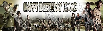 The Walking Dead Peronalized Custom Name Poster Birthday Banner 8.5x30 - Gift