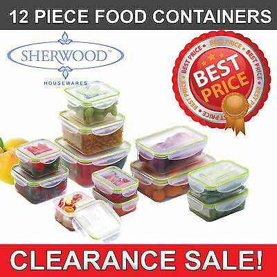 CLEARANCE SALE-New Sherwood 12 Piece Food Storage/Container Set(Microwave Safe)