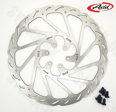 Genuine AVID G2CS (G2 Clean-Sweep) 6-Bolt Disc Brake Rotor,  200mm,  RRP £34.99