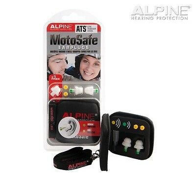 Alpine MotoSafe Motorcycle Earplugs Reusable with Noise Filters