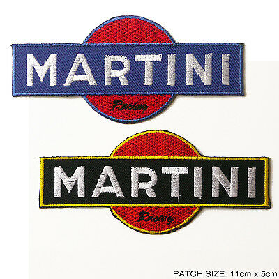 MARTINI RACING Patch Set - 2 x Embroidered Iron-On Race Patches, Excellent