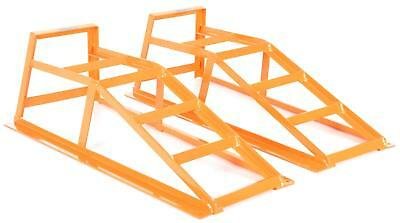 Halfords Car Service Ramps 2 Pieces Yellow 1 Tonne Safe Working Load Stand