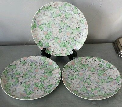 Apple Blossom exclusively for Neiman Marcus salad or dessert plates set of 3