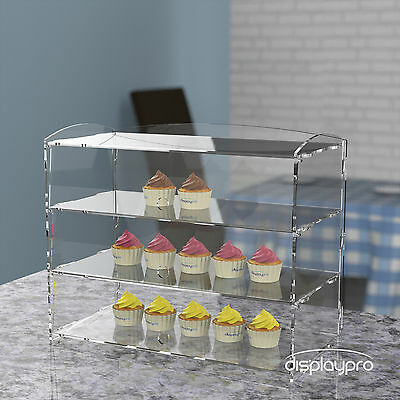 3 Tier Acrylic Bakery Pastry Display Case Cabinet Cakes Donuts Cupcakes Pastries