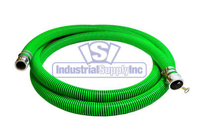 "2"" x 20' EPDM Rubber Trash Pump Water Suction Hose Mud"