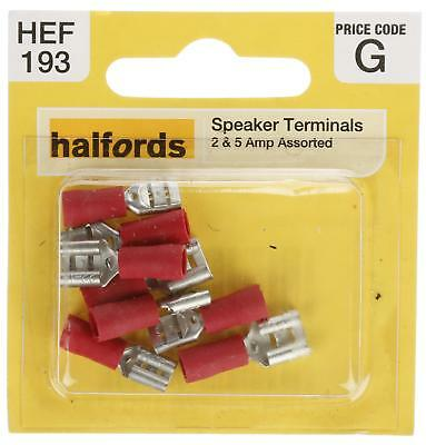 Halfords HEF193 Assorted Speaker Terminals Pack 4 Pieces 2 5 Amp Semi Insulated