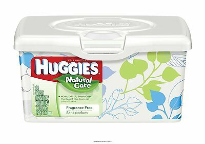 1 Box Huggies 39301 Natural Care Baby Wipes, Triple Clean Fragrance Free