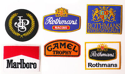 TOBACCO SPORT SPONSORS -Embroidered Patch Series, Low Price, UK Stock, Free Post
