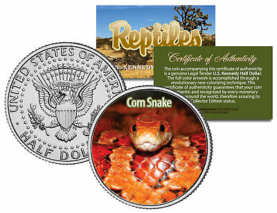 CORN SNAKE * Collectible Reptiles * JFK Half Dollar Colorized U.S. Coin RED RAT
