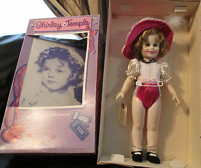 """1984 Shirley Temple 16"""" Doll by Ideal Vinyl Wearing Glad Rags to Riches w/box"""