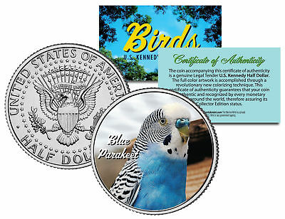 BLUE PARAKEET BIRD JFK Kennedy Half Dollar US Colorized Coin