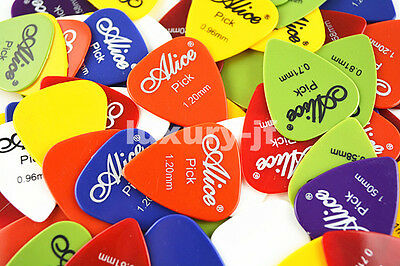 Lots of 30pcs Alice Guitar Picks Plectrums Thickness&Color Assorted