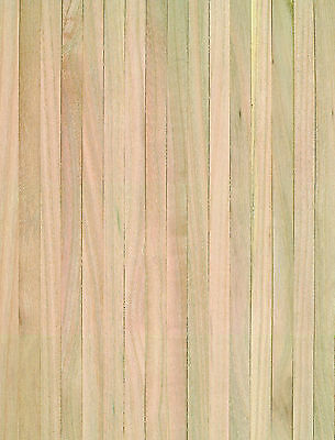 "1:12 Scale Natural Finish Wooden Strip Flooring Dolls House Miniature 18"" x 12"""