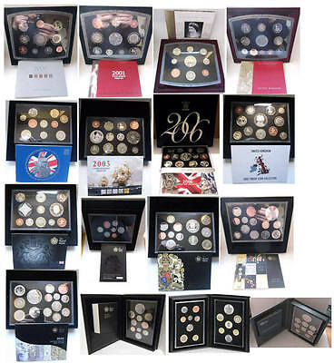 Birthday gift? GB proof coin year sets from 2000 - 2019; free UK postage