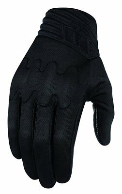 Icon Mens Anthem Stealth Armored Touchscreen Textile Motorcycle Gloves 2015