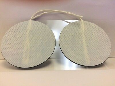 4 Replacement Electrode Pads for Tens Units 3 inch Round White Cloth