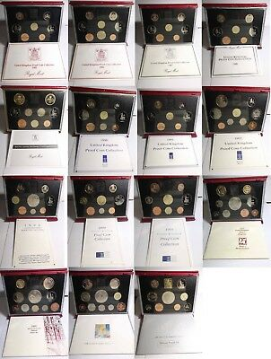 Birthday gift? GB deluxe proof coin year sets from 1990 - 1999; free UK postage