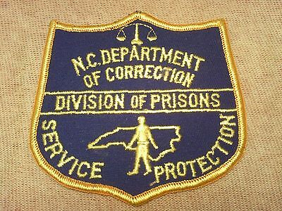 NC North Carolina Division of Prisons Patch