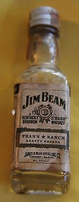 Jim Beam  Mini Bottle from Frans Ranch  Brothel