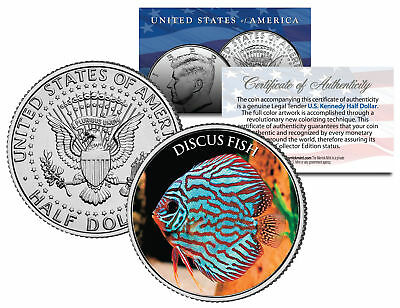 DISCUS FISH *Fish Series* JFK Kennedy Half Dollar U.S. Colorized Coin