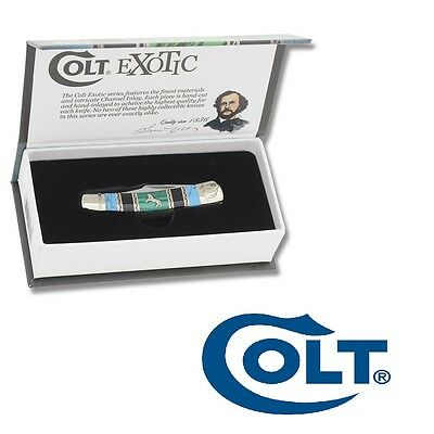 Beautiful Colt pocket knife Colt Exotic Series Moose gift case Free Shipping