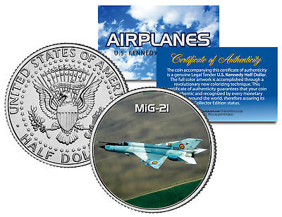 MiG-21 * Airplane Series * JFK Kennedy Half Dollar US Colorized Coin
