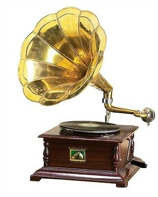 Benzara 27 H Brass Horn Gramophone Phonograph 0 New 5668 Home Accent NEW