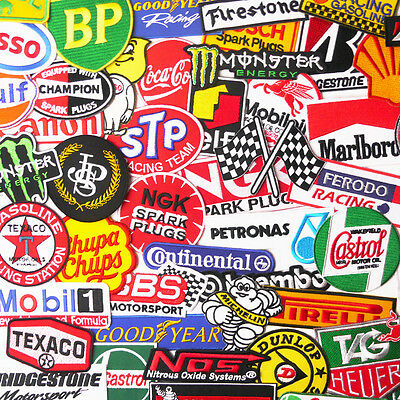 MOTORSPORT RACING PATCH SHOP - Full Sets of 10 PATCHES, UK Stock, Free Post!