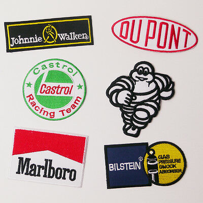 SIX PACK Patch Set - Set of 6 Great Patches- TOP BRANDS, SPONSORS - UK FREE POST