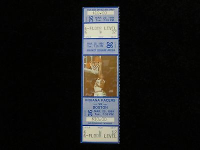 INDIANA PACERS 1984 Game TICKET 3/20/84 BOSTON CELTICS Market Square Arena