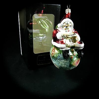 Christopher Radko On Top of the World Glass Ornament 1986- 1995 2 Sided IOB Box
