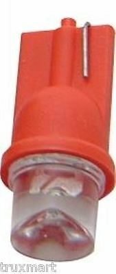 LED bulb 194 red large tube style 1 diode wedge base 2 pack