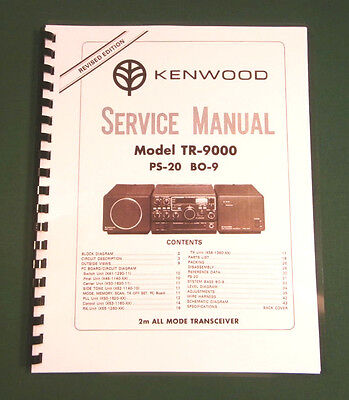 Kenwood TR-9000 Service Manual - Premium Card Stock & Protective Covers!