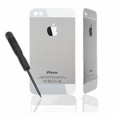Tapa Trasera de Cristal para Apple iPhone 4 Blanco Blanca, Conversion a iPhone 5
