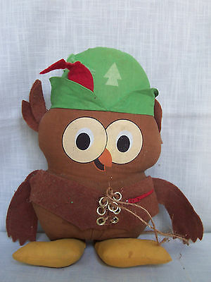 Vintage 1973 Woodsy Owl Stuffed Animal 15 inch AS IS