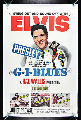 G.I. BLUES * CineMasterpieces 1960 ELVIS PRESLEY ORIGINAL MOVIE POSTER GI BLUES