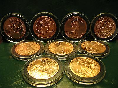 9 Round SET Copper Round PROOF-LIKE 1 oz .999 Very Limited & Very Rare READ
