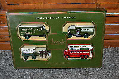 HARRODS Exclusive Ed. 4 pc. Days Gone Diecast Metal Car Set NM to MINT COND!!!