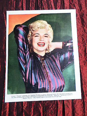 Barbara Nichols - Film Star - 1 Page  Picture- Clipping/cutting