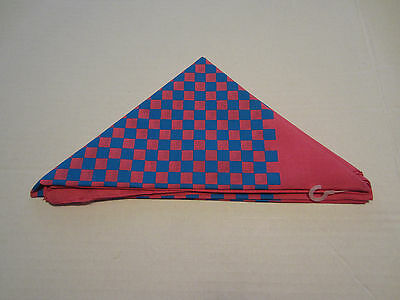 Pink And Blue  Checker   Bandana From Hot Topic New