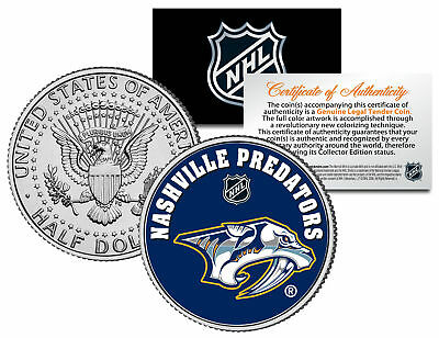 NASHVILLE PREDATORS NHL Hockey JFK Kennedy Half Dollar U.S. Coin * LICENSED *