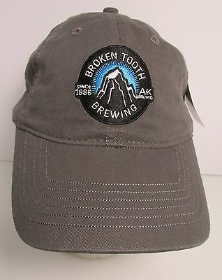 Broken Tooth Brewing Ale Beer Anchorage Alaska AK USA Embroidered Hat Cap New