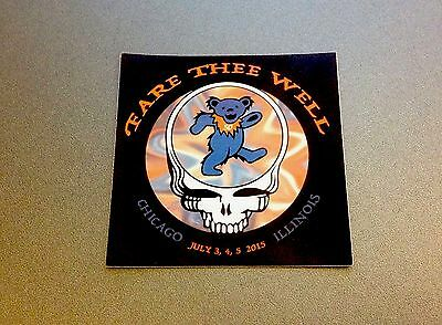 GRATEFUL DEAD Chicago 50th Anniversary Show '15 Magnet & Sticker STEAL YOUR FACE